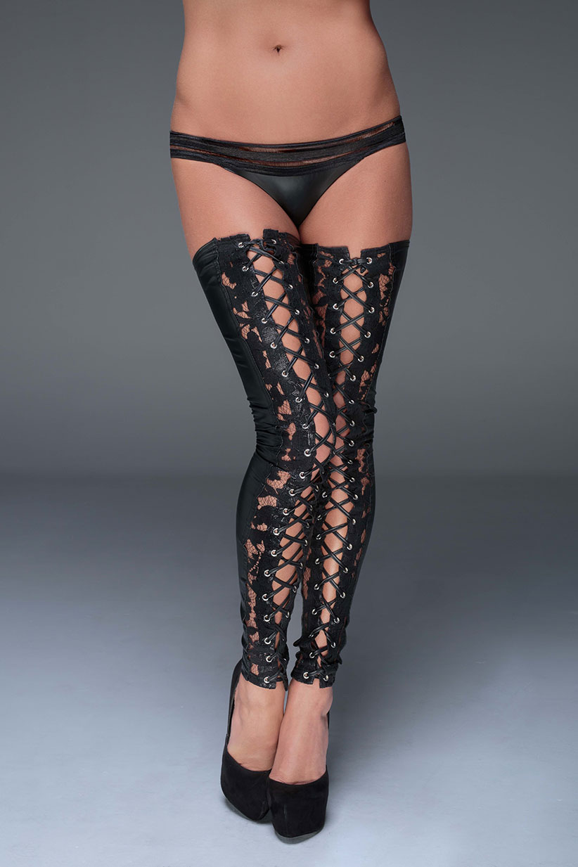 F145-NOIR-HANDMADE-MUSE-Lace-and-powerwetlook-stockings