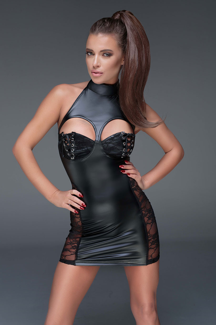F147-NOIR-HANDMADE-MUSE-Powerwetlook-minidress