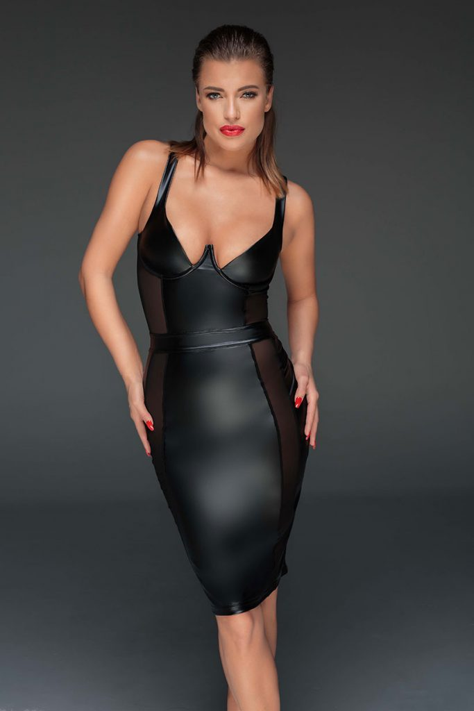 NOIR-HANDMADE-MUSE-F151-Powerwetlook-sexy-dress-with-see-through-inserts