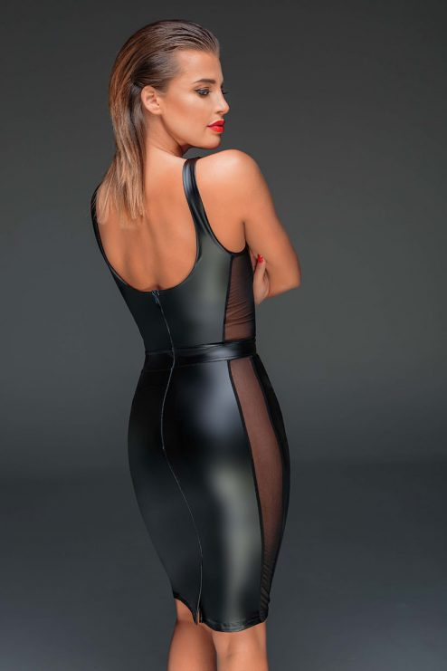 NOIR-HANDMADE-MUSE-F151-Powerwetlook-sexy-dress-with-see-through-inserts-BACK