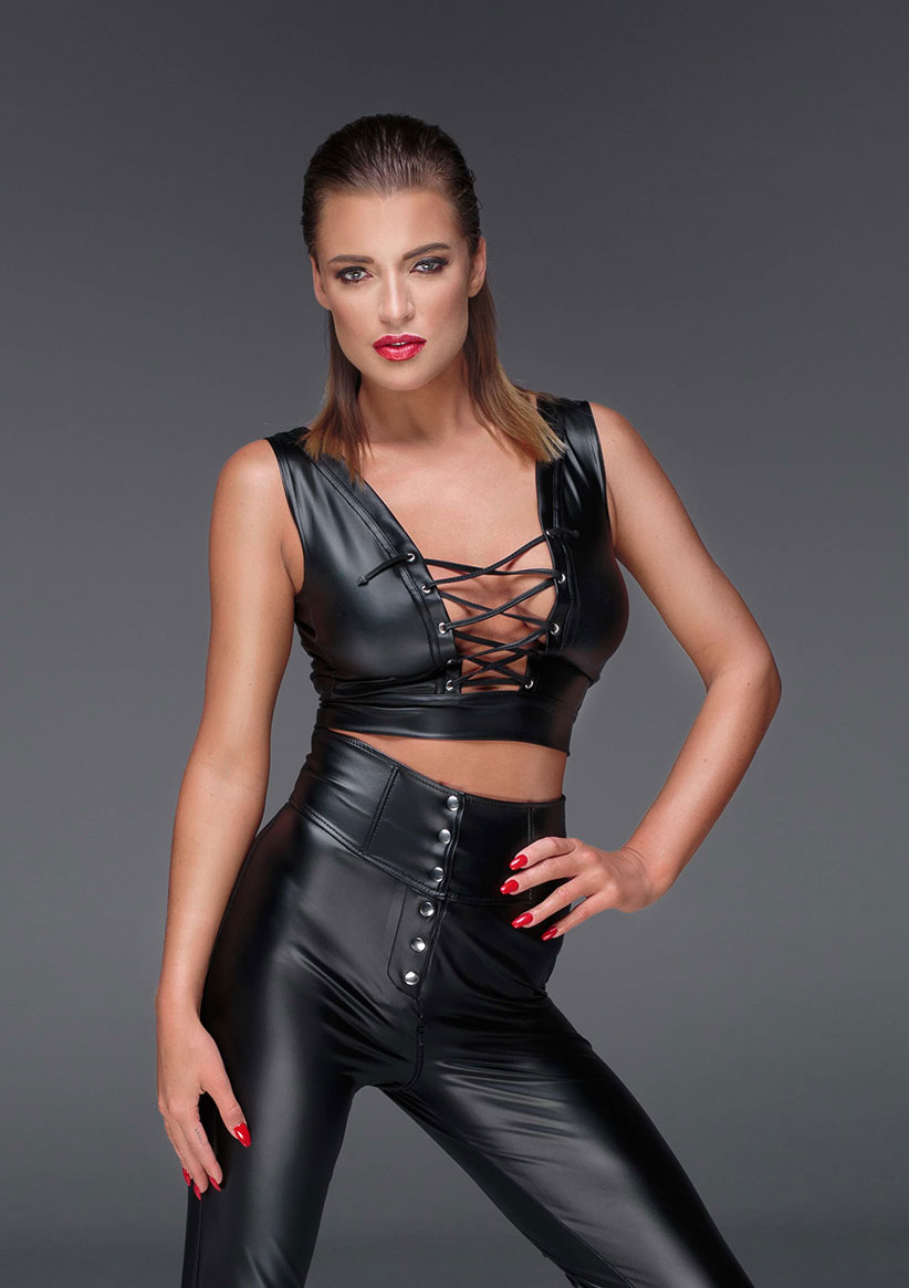 F155-NOIR-HANDMADE-MUSE-Powerwetlook-top-with-lacing