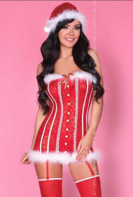 Christmas-Shaymala-red-lace-corset