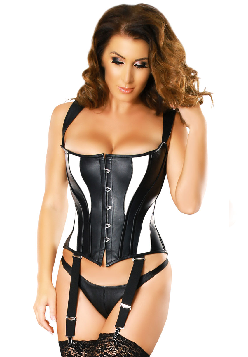 5725-black-and-white-leather-corset