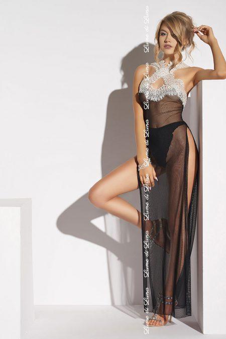 lume-di-luna-Albenga-long-chemise-black-luxury-gown