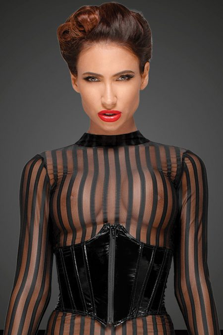 Noir-Handmade-Decadence-F182-sexy-dress-with f193 corset-close-up