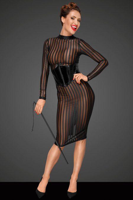 Noir-Handmade-Decadence-F182-sexy-dress-with f193 corset-2