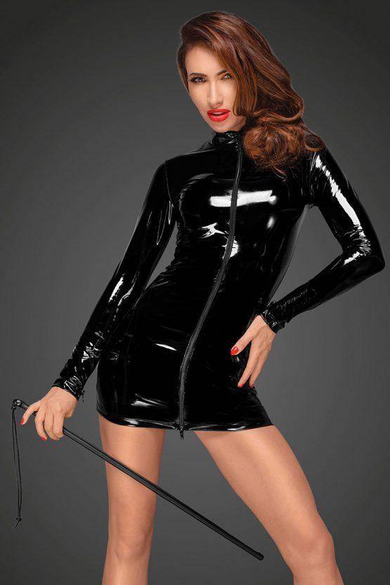 Noir-Handmade-Decadence-F187-sexy-wetlook-dress