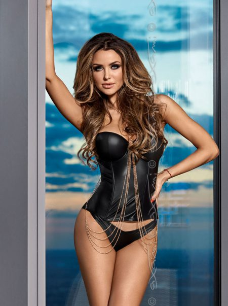 AXAMI-V-8327-black-wet-look-corset