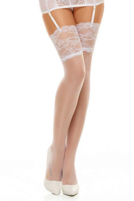 Beauty-night-fashion-Romance-stockings-white
