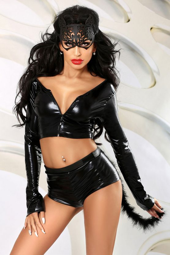 Lolitta-Sexy-Cat-erotic-black-wetlook-costume