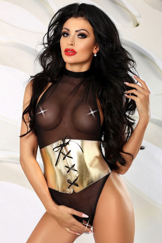 Lolitta-Lavish-sexy-and-erotic-teddy-golden-leather-garter-belt