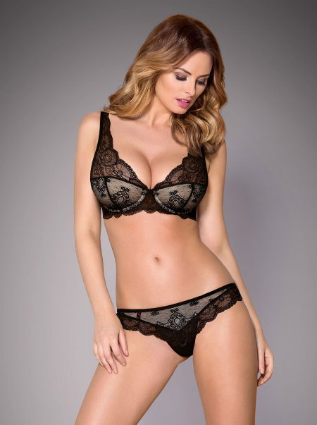 Obsessive-853-SET-sexy-bra-and-thong-set-vintage-black-bra-set