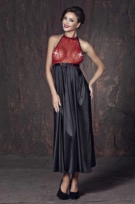 Anais-Apolonya-long-chemise-black-and-red