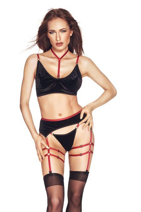 Anais-RIHO-black-lingerie-set-black-velvet