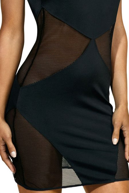 V-9279-axami-lingerie-sexy-black-dress-with-see-thru-mesh-inserts-close-up
