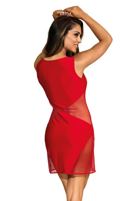 V-9289-axami-lingerie-sexy-little-red-dress-with-see-thru-mesh-inserts-back