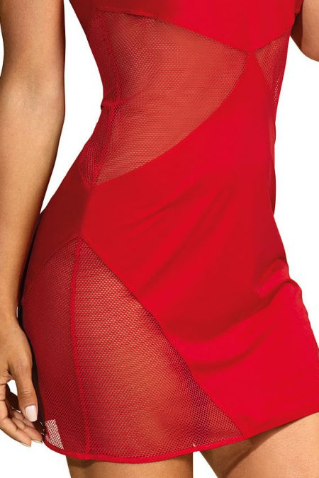 V-9289-axami-lingerie-sexy-little-red-dress-with-see-thru-mesh-inserts-close-up