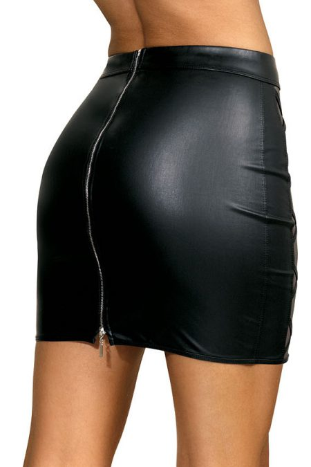 V-9329-Axami-sexy-mini-skirt-see-through-inserts-clubwear-Party-on-Ibiza-back-close-up