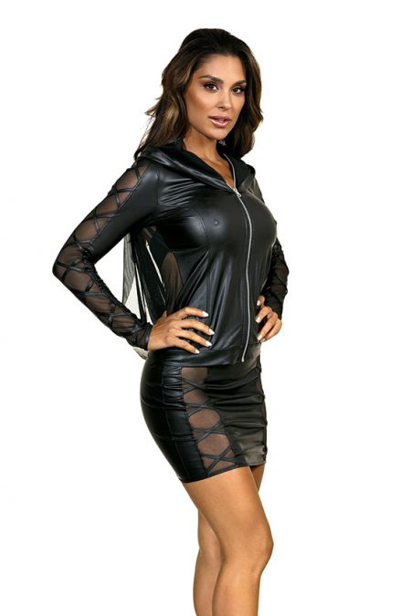 V-9329-V-9320-Axami-erotic-wetlook-jacket-mini-skirt-with-see-thru-inserts-clubwear-party-on-ibiza