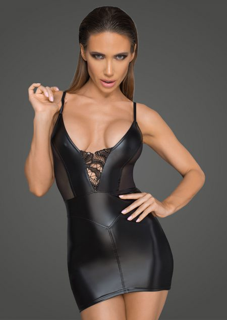 F205-sexy-dresses-clubwear-black-mini-dress-of-wetlook-powerwetlook