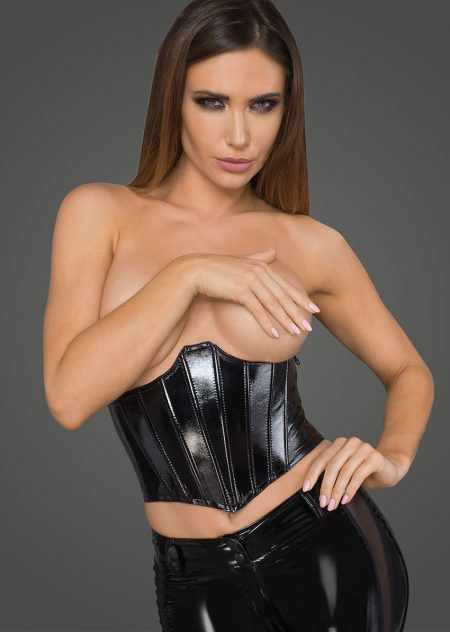 F211-open-cups-black-wetlook-corset