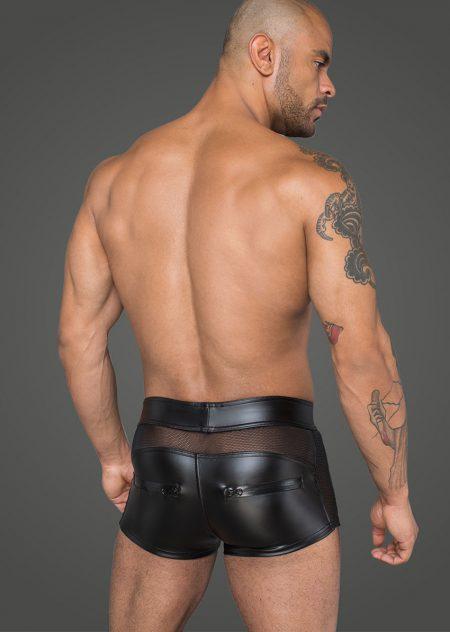 H058-mens-clubwear-fetishwear-wetlook-mens-shorts-back
