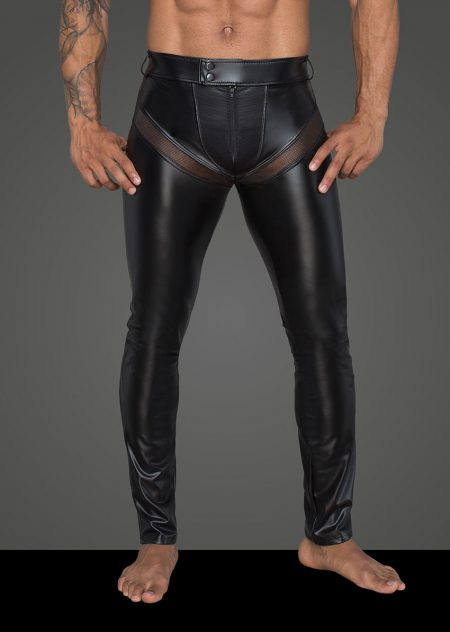 H059-mens-clubwear-fetishwear-wetlook-mens-pants-black-trousers