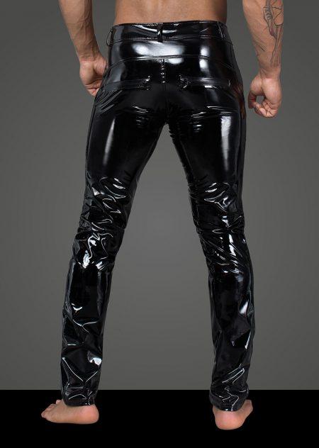 H060-mens-clubwear-fetishwear-wetlook-mens-pants-black-trousers-Back