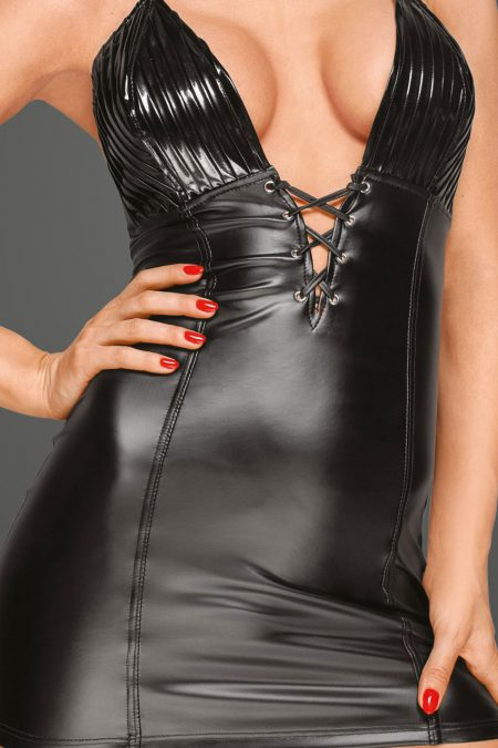 f216-wetlook-notty-mini-dress-new-couture-close-up-lacing