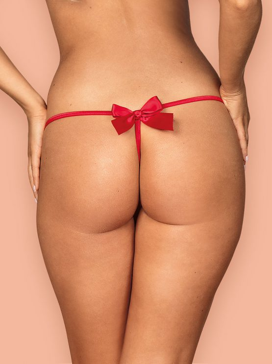 Obsessive-Giftella-red-lingerie-erotic-thong-with-bow-lingerie-for-christmas-gifts-g-string-back