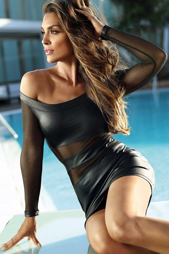 V-9309-axami-lingerie-sexy-wetlook-minidress-with-tulle-translucent-inserts-top
