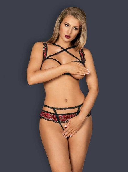 Obsessive-meggies-sexy-set-of-cupless-bra-and-crotchless-thong