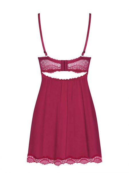 Obsessive-rosalyne-sensual-babydoll-and-thong-burgundy-sexy-lingerie-back-packshot