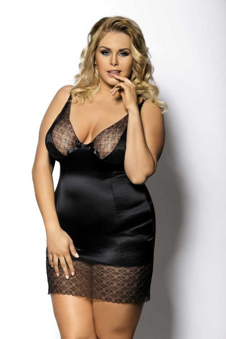 Anais-Enfia-Plus-Size-satine-chemise-sensual-night-dress-sexy-lingerie
