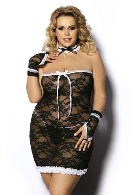 Anais-Plus-Size-lingerie-Cantrea-black-lace-chemise-sexy-lingerie