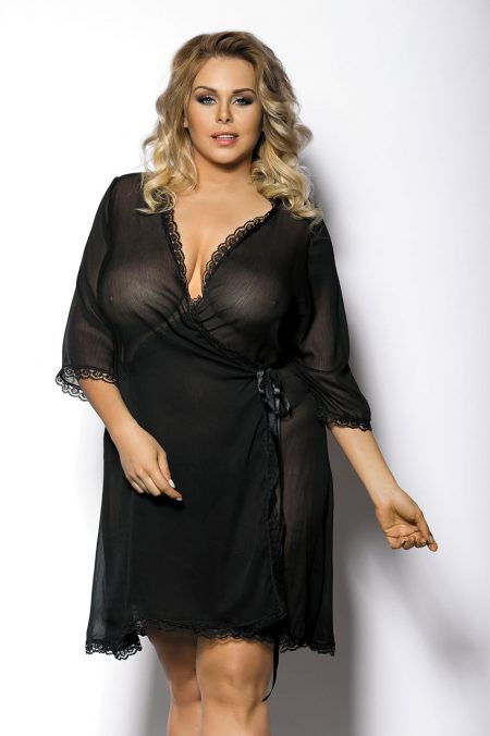 Anais-Plus-Size-lingerie-Islla-black-plus-size-robe-transparent-gown-peignoir