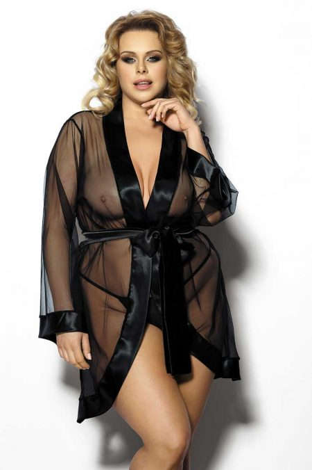 Anais-Plus-Size-lingerie-Maerin-erotic-gown-transparent-peignoir