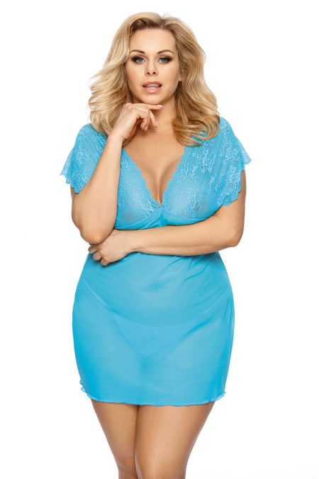 Anais-Plus-Size-lingerie-Ofeely-turquoise-chemise-lace-chemise-sexy-plus-size-lingerie