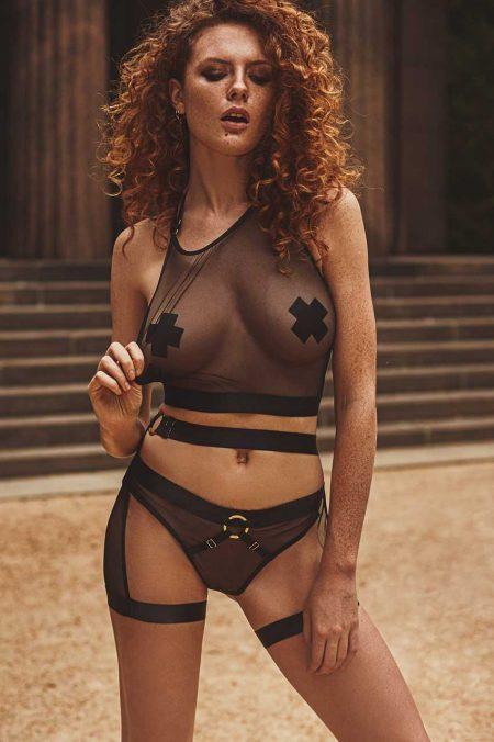 Anais-erotic-lingerie-reverie-transparent-lingerie-set-of-black-mesh-and-straps-adv