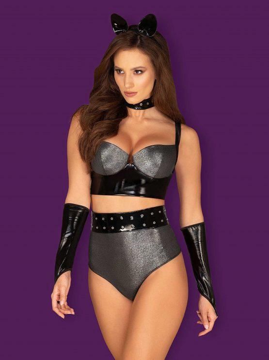Obsessive-silveria-provocative-erotic-cat-costume-shimmering-lingerie