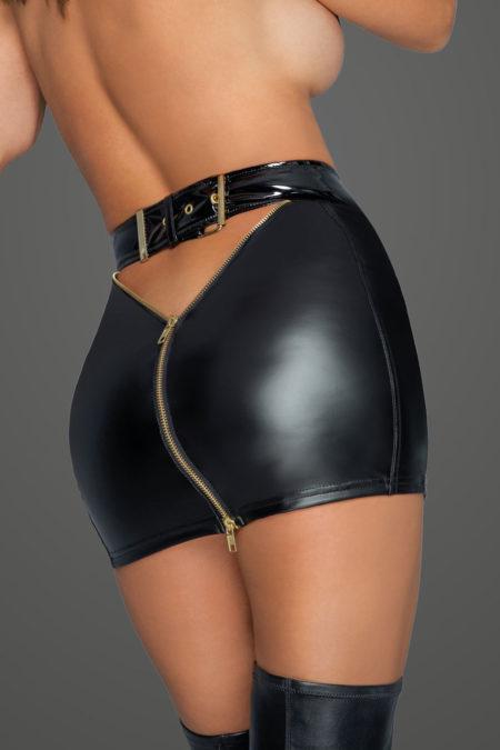 noir-handmade-f219-naughty-wetlook-mini-skirt-with-golden-zippers-back-1