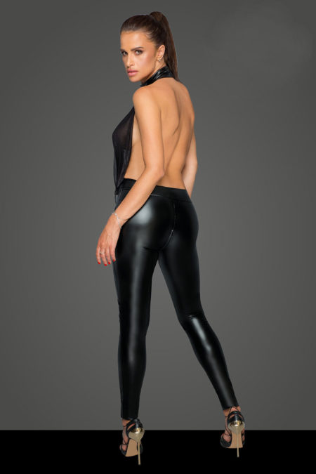 f223-black-wetlook-and-tulle-catsuit-back