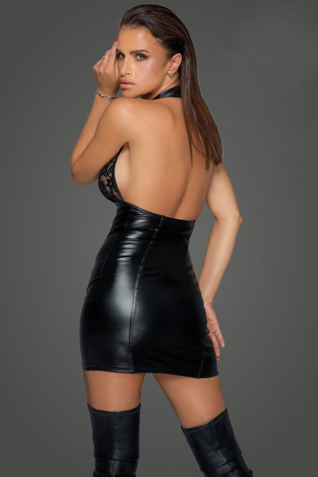 noir-handmade-f224-sexy-black--dress-with-lace-top-and-studs-back
