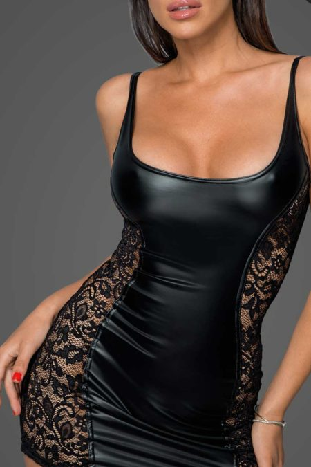 noir-handmade-f229-power-wetlook-black-dress-with-lace-inserts-1