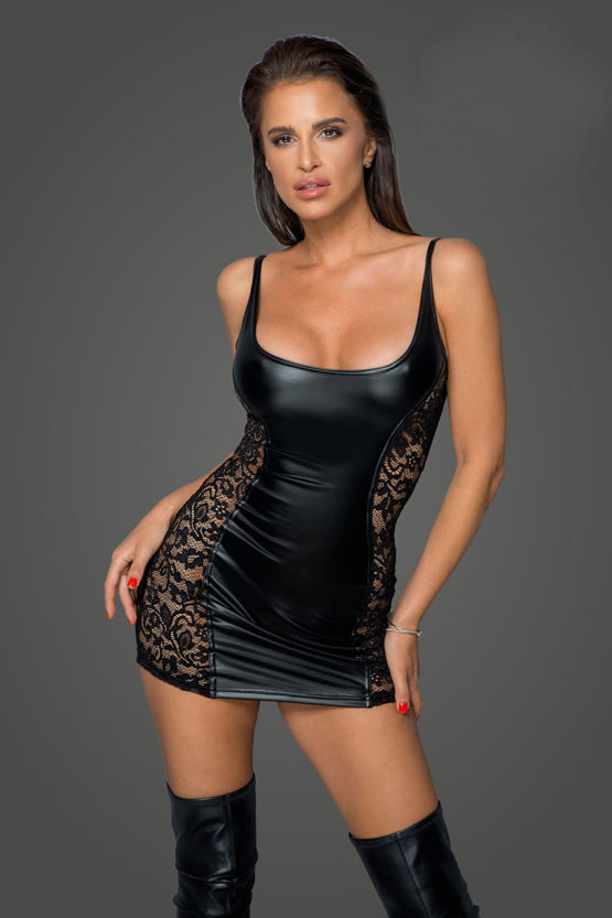 noir-handmade-f229-power-wetlook-black-dress-with-lace-inserts