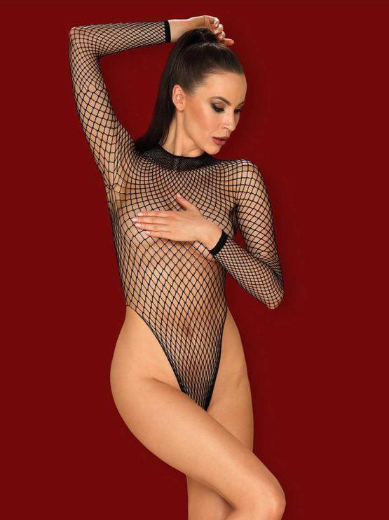 obsessive-b125-black-fishnet-teddy-see-trough-body