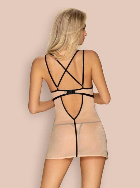 Obsessive-nudelia-transparent-chemise-nude-back