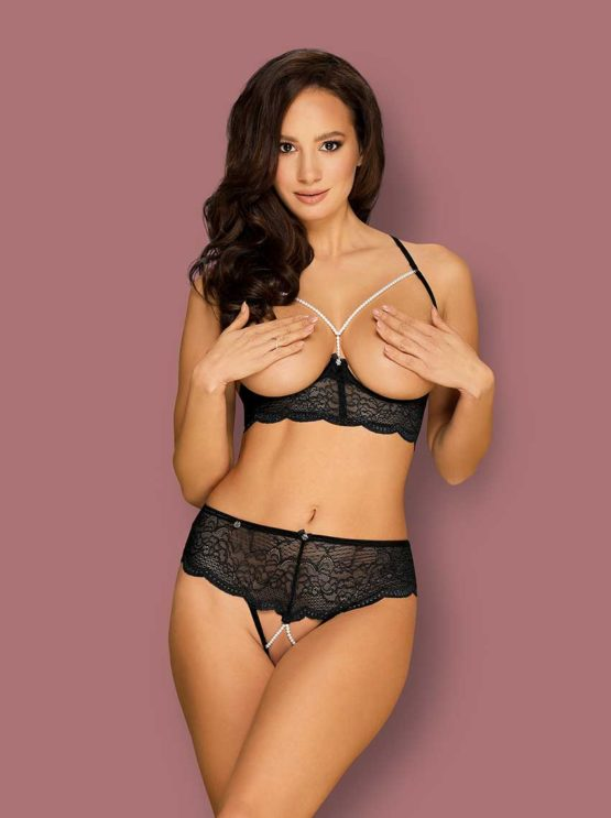 Obsessive-pearlove-crotchless-lingerie-set